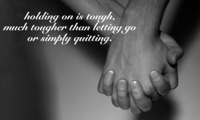 Keep holding on...